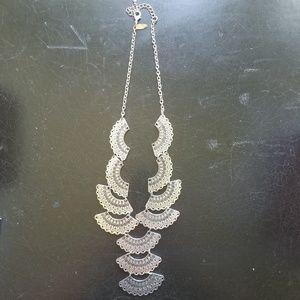 NY&Co Silver Fan Necklace